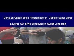 Corte de Cabello en Capas Estilo Programado