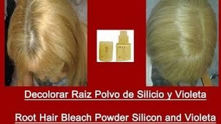 Hacer una decoloracion con agua de 10 vol y polvo de silicio