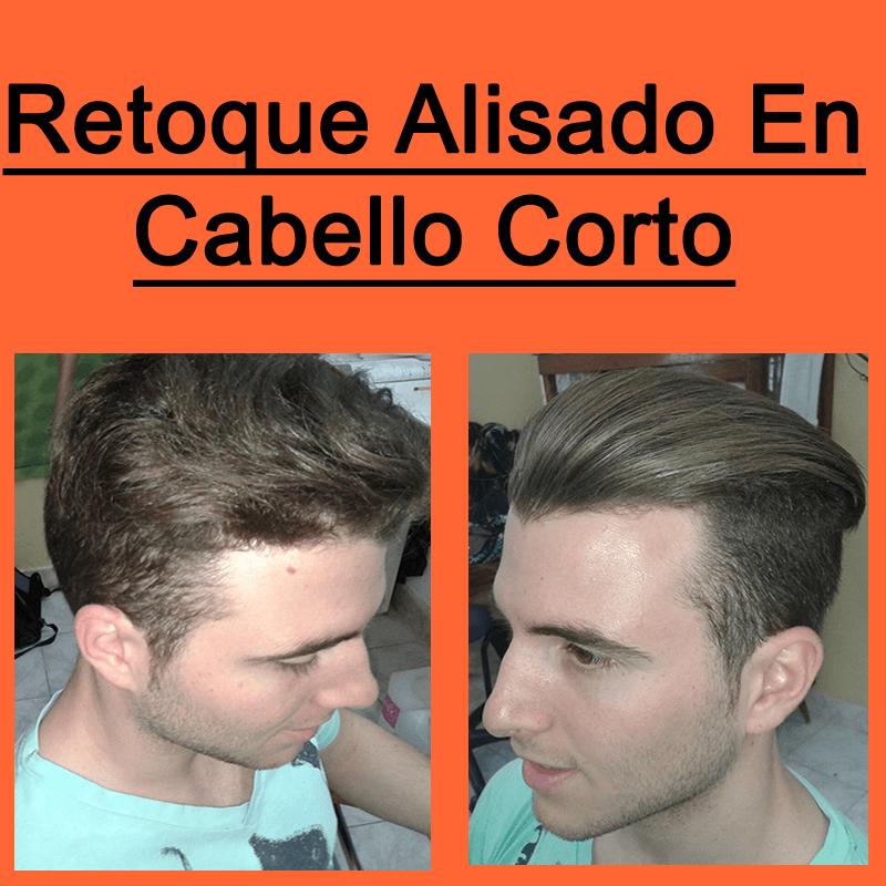retoque alisado en cabello corto
