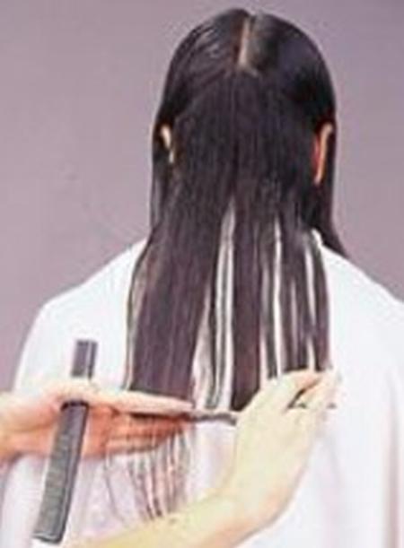 corte de puntas mujer paso 2