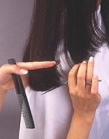 corte de puntas mujer paso 7