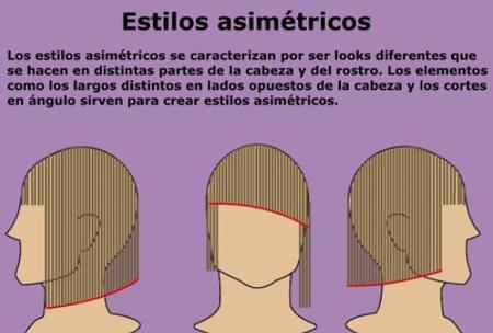 estilo de pelo asimetricos