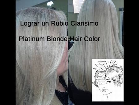 Lograr Color de Cabello Rubio Platino