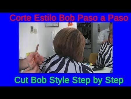 Corte Estilo Bob Mucho Cabello Paso a Paso