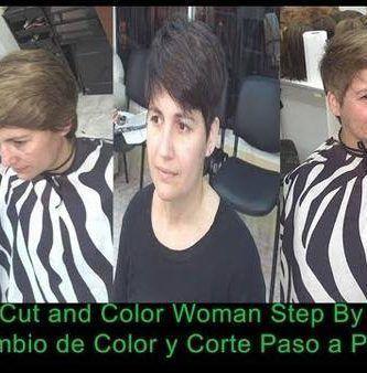 Corte de cabello y Cambio de Color mujer estilo Agustina Cherri
