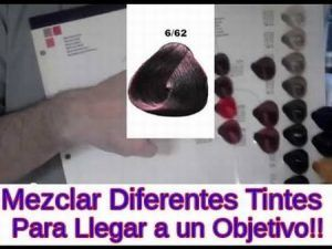 Mezcla Colores Tintura Corrector Violeta