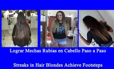 Mechas Rubias en las Puntas-Streaks in Hair Blondes achieve Footsteps