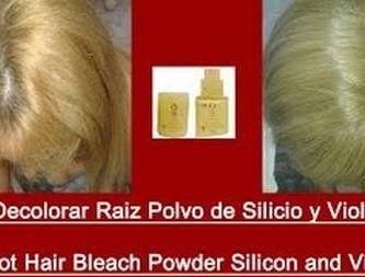 Decolorar Raiz Polvo de Silicio y Violeta Root Hair Bleach Powder Silicon and Violeta