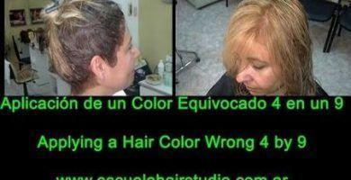 Aplicación de un Color Equivocado 4 en un 9