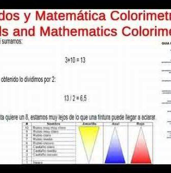 Fondos y Matematica Colorimetria