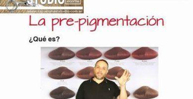 La pre pigmentación del cabello