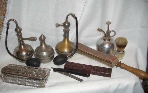 herramientas peluqueros antiguos