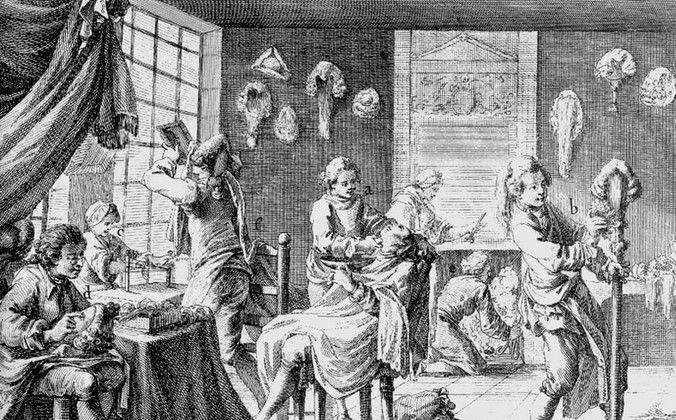 peluqueros en la antiguedad