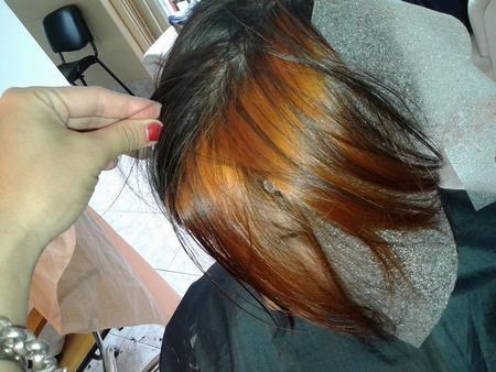 Color Cabello Cobre Naranja