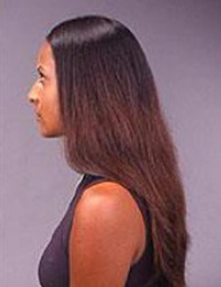 corte de puntas mujer antes