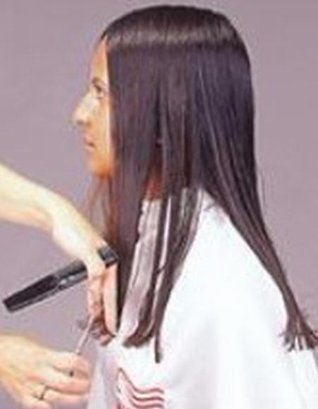 corte de puntas mujer paso 5