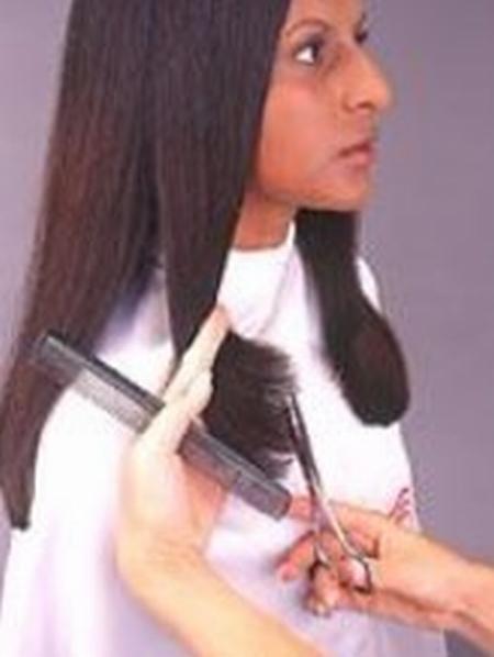 corte de puntas mujer paso 8