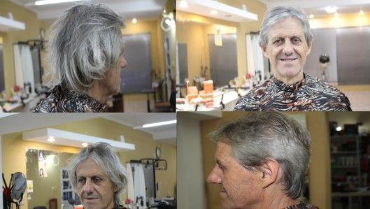 corte clasico a tijera hombre antes y despues