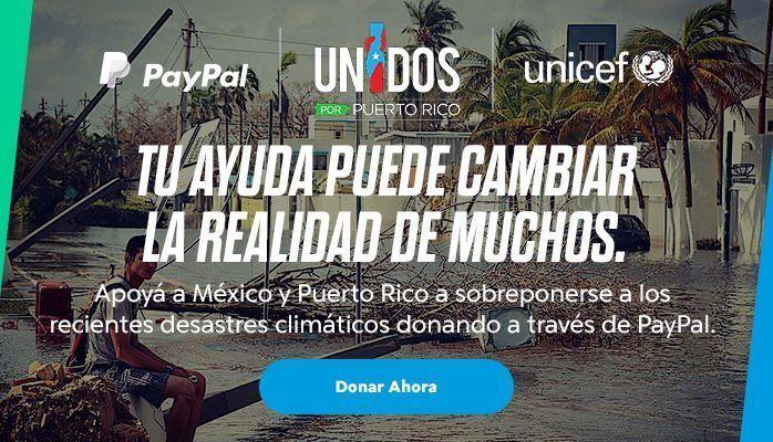 Ayuda Para Mexico y Puerto Rico