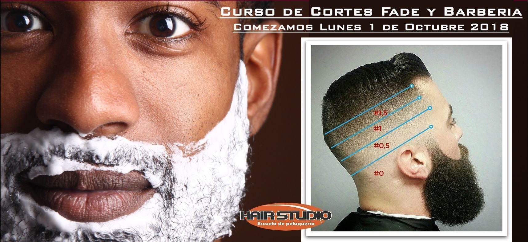 curso de cortes fade y barberia 2018