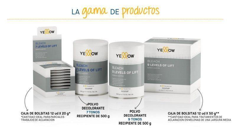 Nuevos Polvos Decolorantes Yellow Alfa Parf